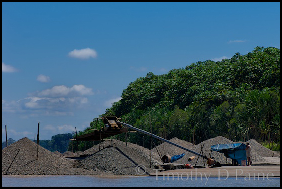 A conservation traveler can see firsthand the effects of gold mining on the Rio Madre de Dios.