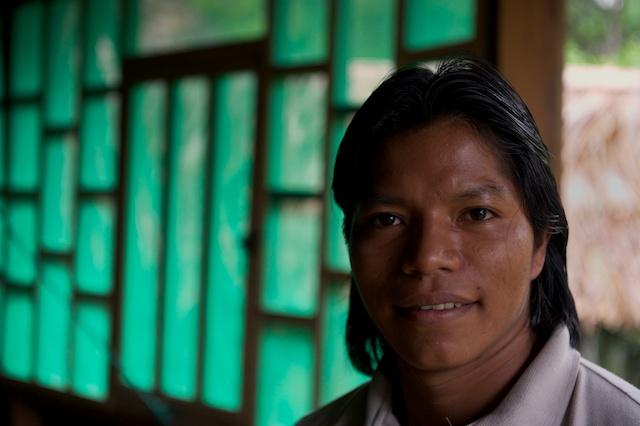Javier, a Kichwa guide at Sani Lodge, Ecuador.